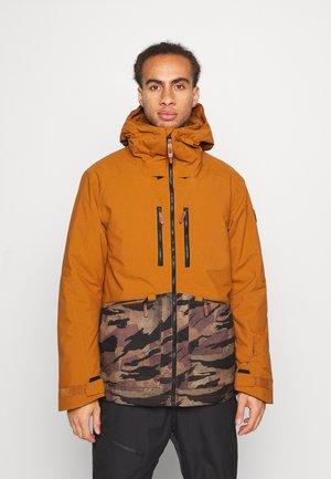 TEXTURE JACKET - Snowboard jacket - glazed ginger