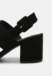Nly by Nelly - CASUAL LOW BLOCK - Sandały - black - 4