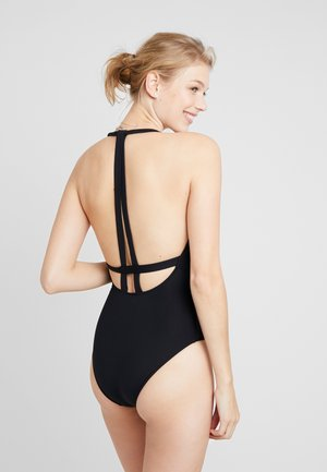 ACTIVE-V PLUNGE MAILLOT - Swimsuit - black