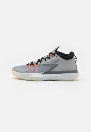 ZION 1 - Chaussures de basket - light smoke grey/total orange/smoke grey/black/pale ivory/bright crimson