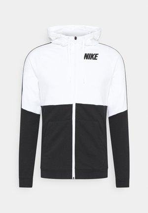DRY  - veste en sweat zippée - white/black