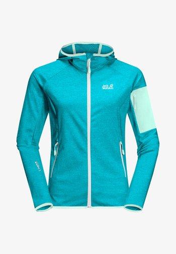 MILFORD - Fleece jacket - dark aqua
