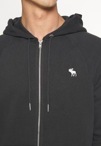 Abercrombie & Fitch - ICON FULLZIP - Jersey con capucha - anthrazit - 4