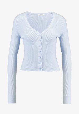 FINE CARDIGAN - Chaqueta de punto - light blue