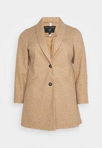 Dorothy Perkins Curve - MINIMAL SHAWL COLLARCROMBIE COAT - Short coat - camel - 5