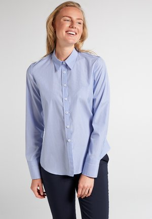 Button-down blouse - hellblau/weiß