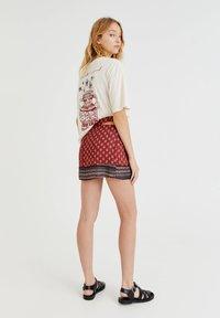 PULL&BEAR - Wrap skirt - mottled light red - 2
