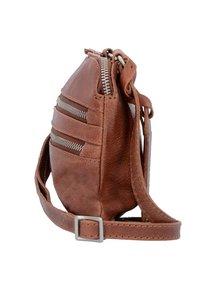 Cowboysbag - COWBOYSBAG BAG TIVERTON UMHÄNGETASCHE LEDER 24 CM - Across body bag - cognac - 3