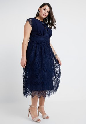 EXCLUSIVE FILLY MIDI DRESS - Occasion wear - navy
