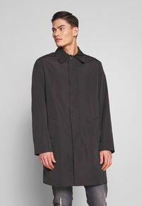 Calvin Klein Tailored - COMPACT NYLON COAT - Wollmantel/klassischer Mantel - black - 0