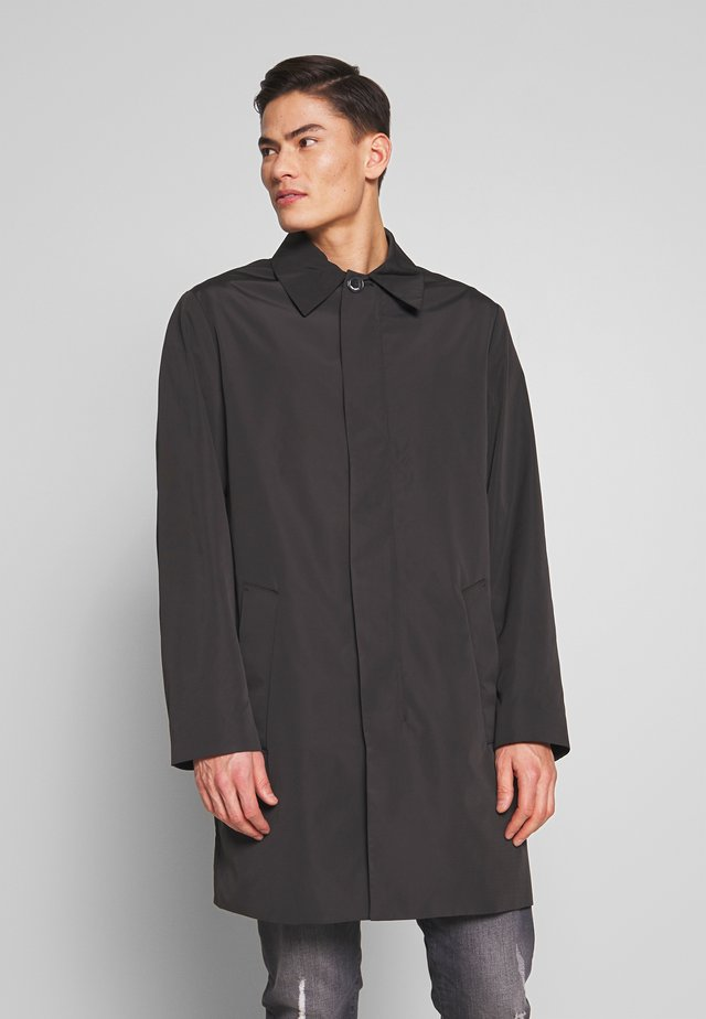 COMPACT NYLON COAT - Mantel - black