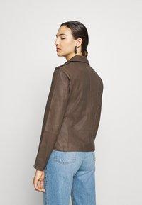 DEPECHE - JACKET - Leather jacket - dusty taupe - 2