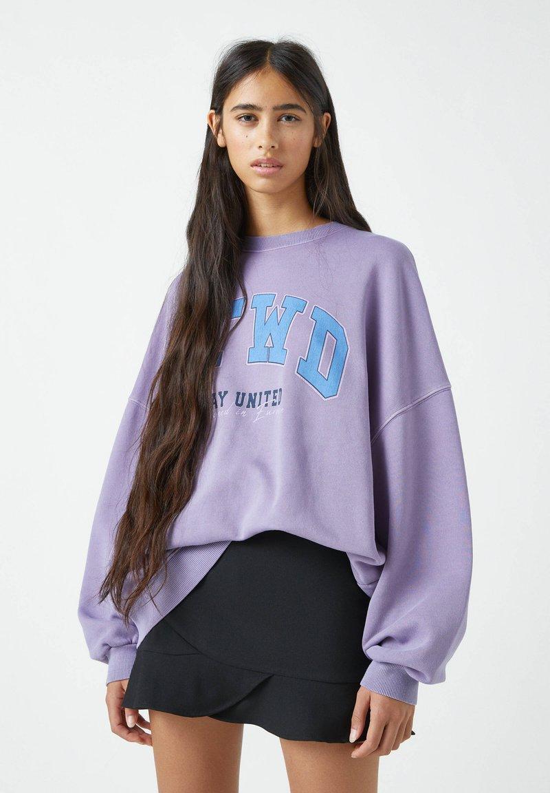 PULL&BEAR - Sweatshirts - purple