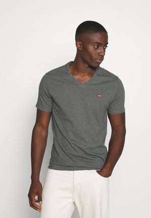 VNECK - T-shirt con stampa - charcoal heather