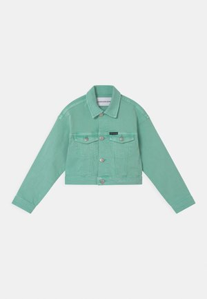 CROPPED  - Denim jacket - dew green