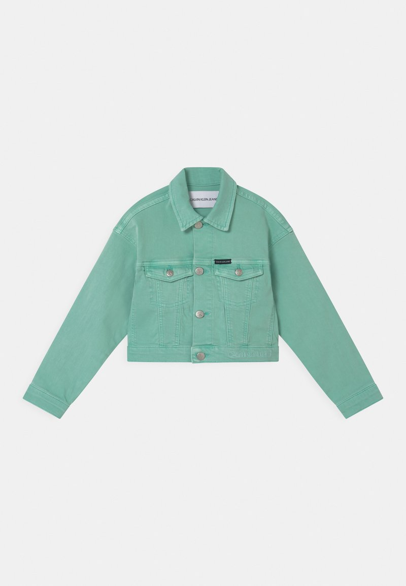 Calvin Klein Jeans - CROPPED  - Spijkerjas - dew green