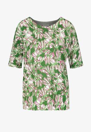 MIT FLOWERDESSIN - T-shirt print - palm white azalea druck