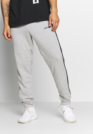 ESSENTIALS 3STRIPES FRENCH TERRY SPORT PANTS - Teplákové kalhoty - medium grey heather/black