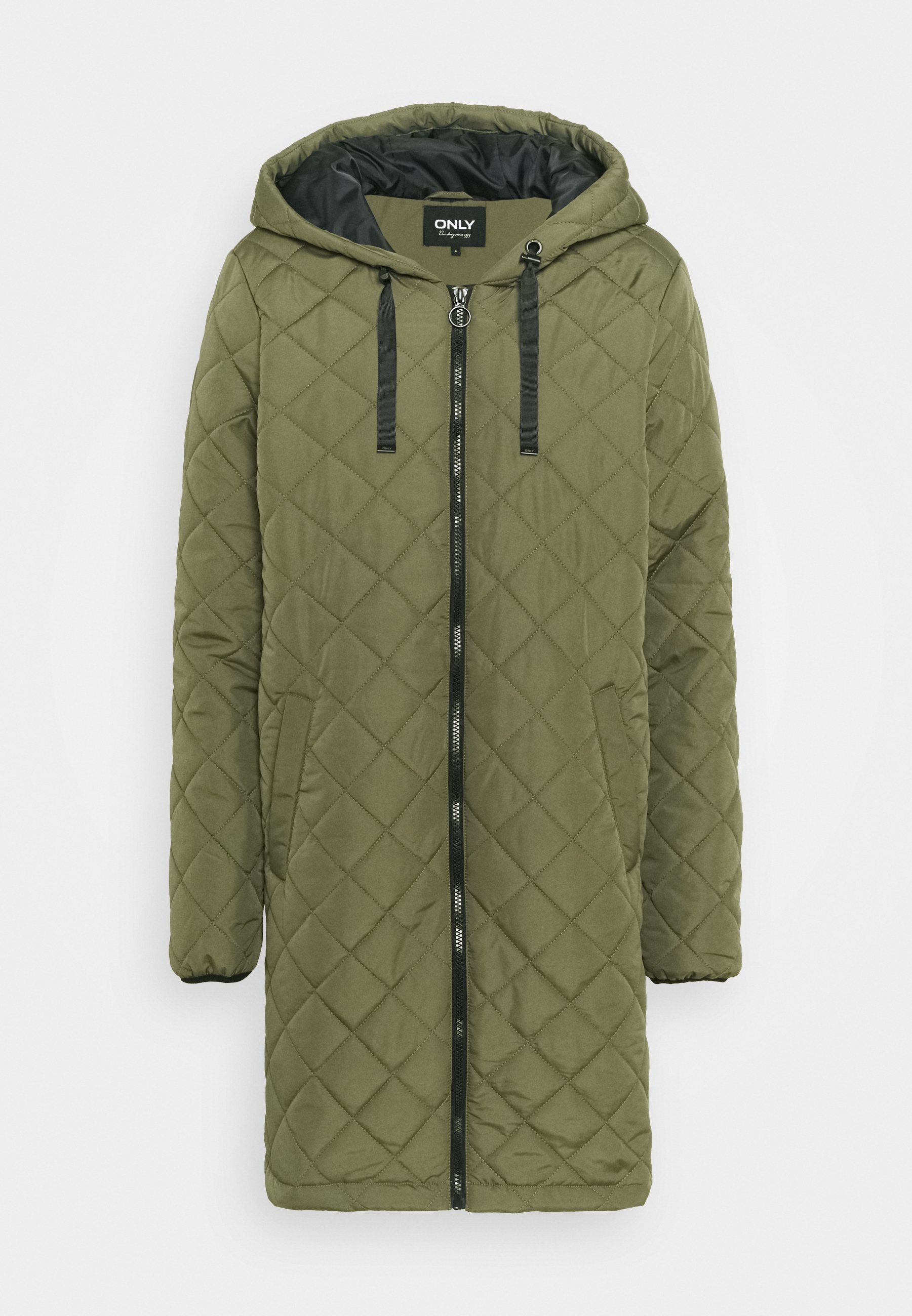 Women ONLSANNE QUILTED LONG JACKET  - Winter coat
