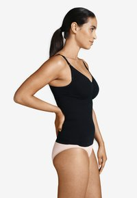 Carriwell - NURSING TOP WITH SHAPEWEAR - Undershirt - black - 1
