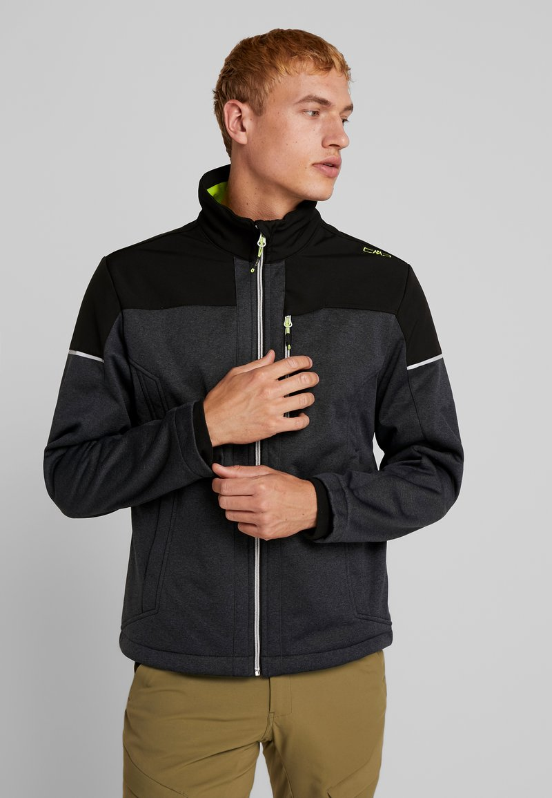 CMP - MAN JACKET - Soft shell jacket - asphalt melange