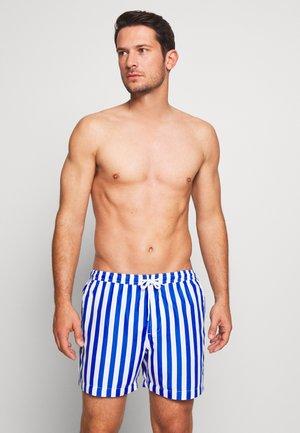 STRIPE - Swimming shorts - blue/white