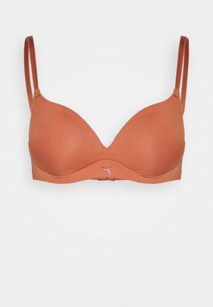 WOMEN SOFT PADDED BRA - Triangle bra - brown