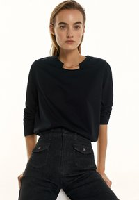 Massimo Dutti - Long sleeved top - black - 4