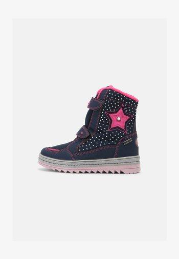 AURA V - Winter boots - marine/pink