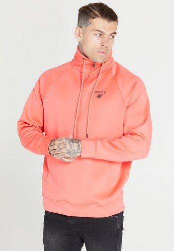 HALF ZIP FUNNEL NECK SWEATER - Sweater - pink