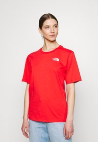 The North Face - SIMPLE DOME - Basic T-shirt - horizon red - 0