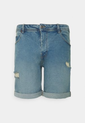 MR ORANGE - Denim shorts - light blue