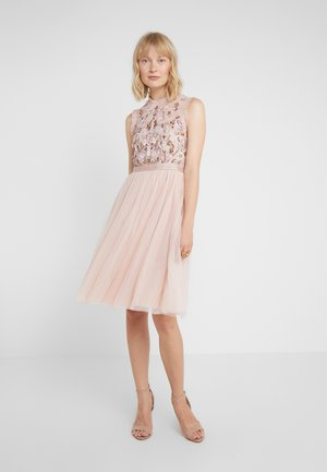 DARLING BODICE SLEEVELESS MIDI DRESS - Cocktail dress / Party dress - powder pink