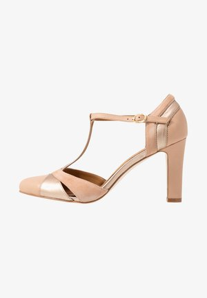 LEATHER HIGH HEELS - Zapatos altos - beige