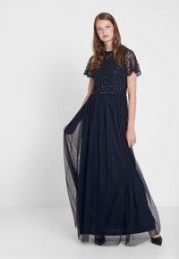Dorothy Perkins Tall - TINA SLEEVED MAXI DRESS - Iltapuku - navy - 1