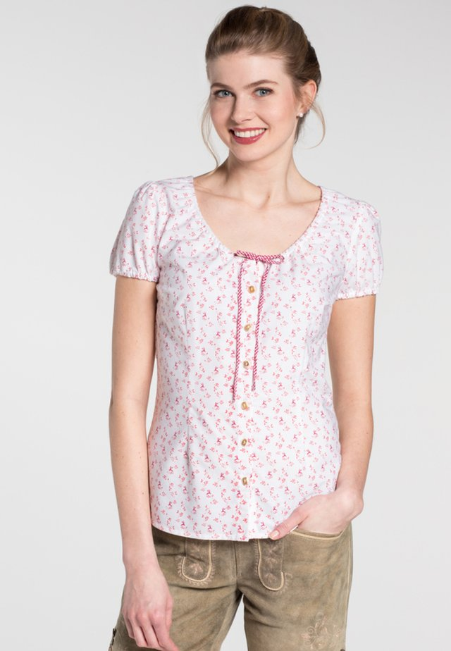 KAMIN - Blouse - white/dark red