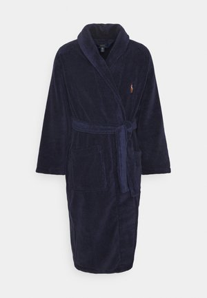 SHAWL COLLAR ROBE - Morgonrock - cruise navy