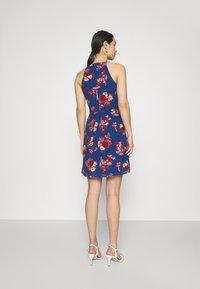Vila - VIMILINA FLOWER DRESS - Cocktail dress / Party dress - mazarine blue/aya - 2