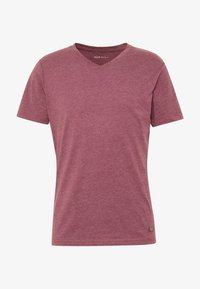 Pier One - Basic T-shirt - mottled bordeaux - 4