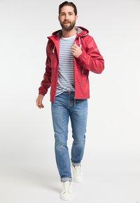 Schmuddelwedda - Waterproof jacket - red - 1
