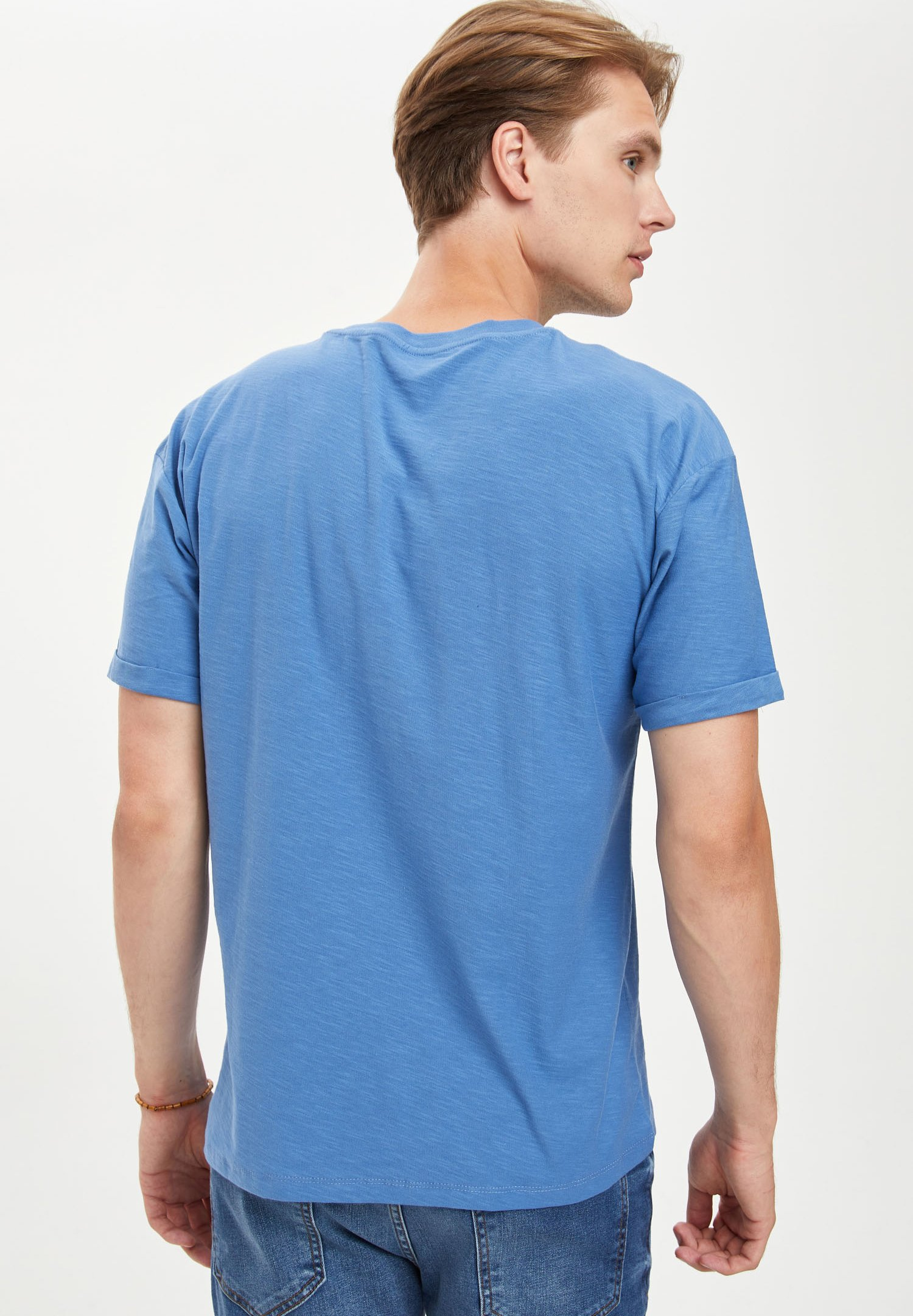 DeFacto Basic T-shirt - blue csEWF