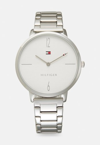 LIZA - Watch - silver-coloured/white