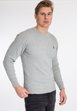 Pullover - grey melange