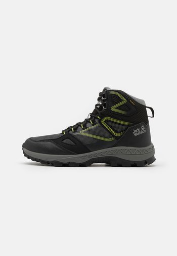 DOWNHILL TEXAPORE MID  - Hiking shoes - black/lime