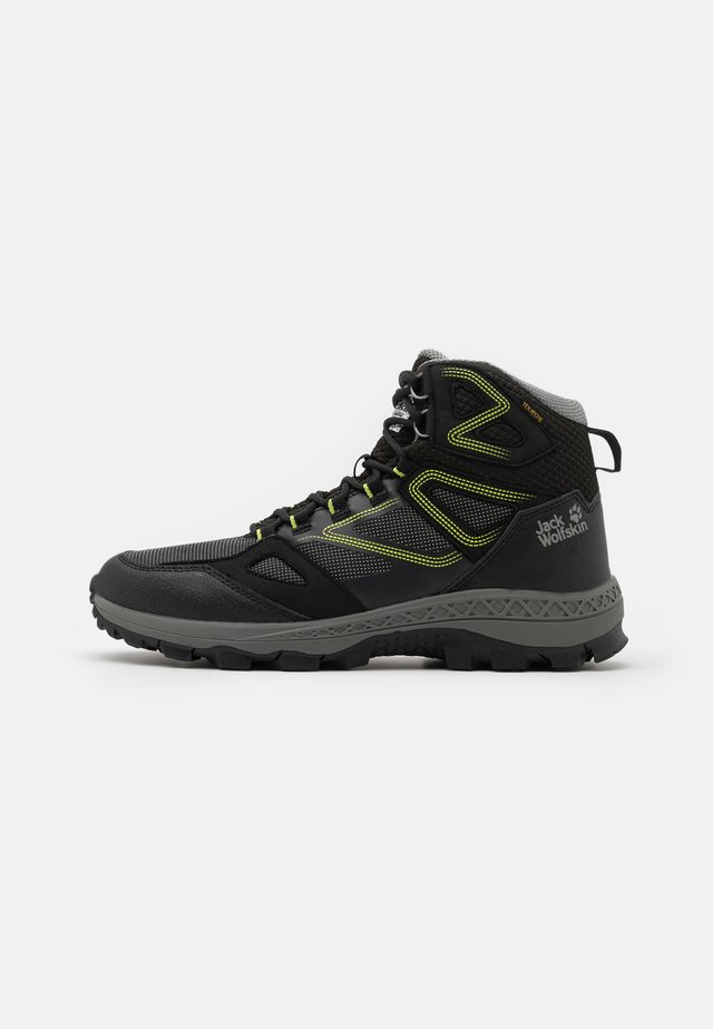 DOWNHILL TEXAPORE MID  - Obuwie hikingowe - black/lime