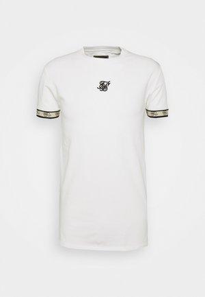 PREMIUM TAPE GYM TEE - Camiseta estampada - off-white/black