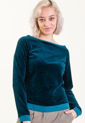 Sweatshirt - petrolblau