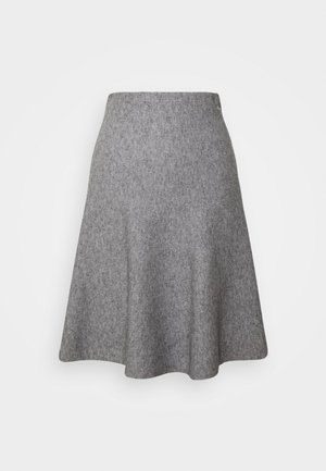 SKATER SKIRT - Mini skirt - light silver grey mélange