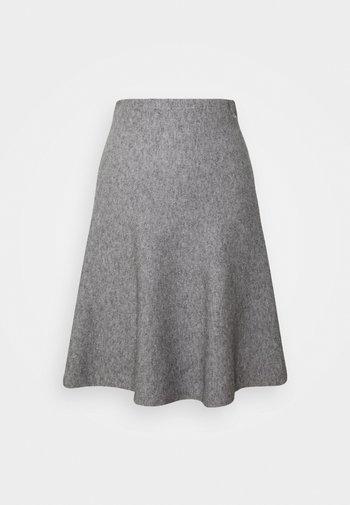 SKATER SKIRT - Mini skirt - light silver grey mélange