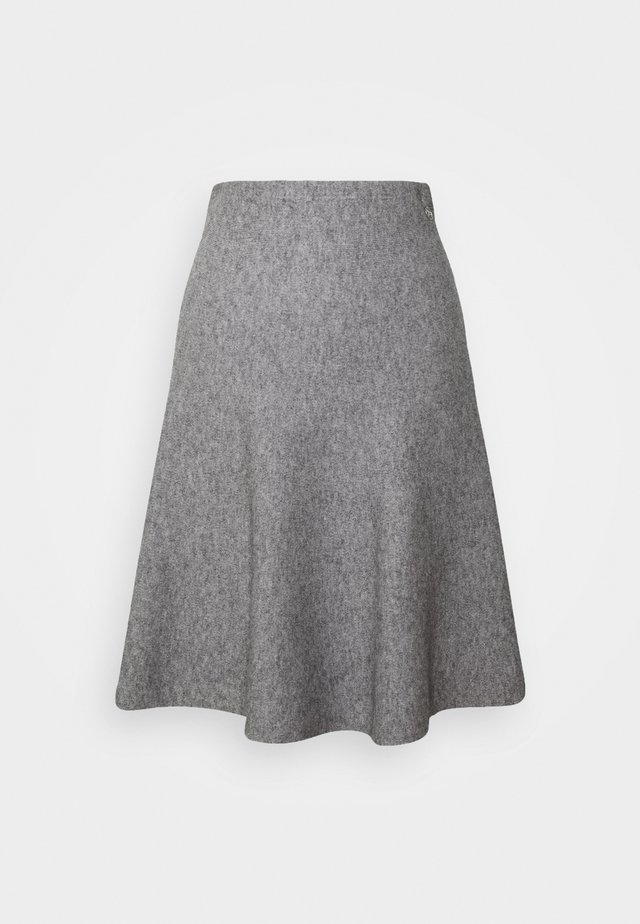 SKATER SKIRT - Minifalda - light silver grey mélange